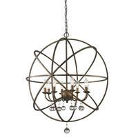 Avery Home Lighting Acadia 8-light Golden Bronze/ Clear Crystal Pendant
