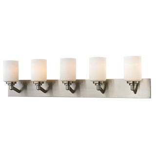 Z-Lite Montego 5-light Matte Opal Glass Vanity