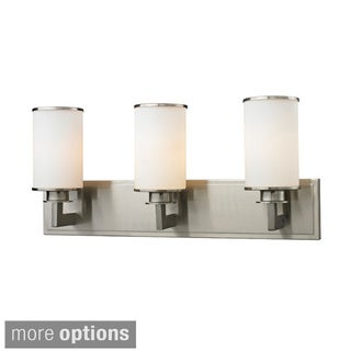 Z-Lite Savannah 3-light Matte Opal Glass Vanity