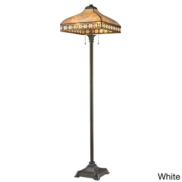 Avery Home Lighting Crimson 3-light Mica/ Tiffany-style Floor Lamp
