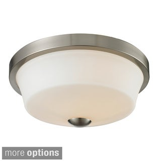 Z-Lite Montego 2-light Matte Opal Glasss Flush Mount
