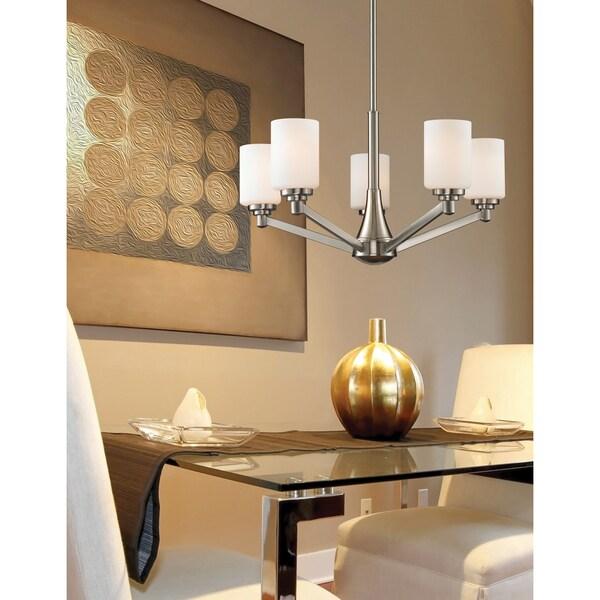 Avery Home Lighting Montego Brushed Nickel 5-light Chandelier - Silver