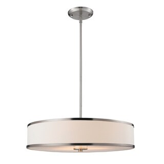 Z-Lite Cameo Brushed Nickel Convertible 3-light Pendant Fixture
