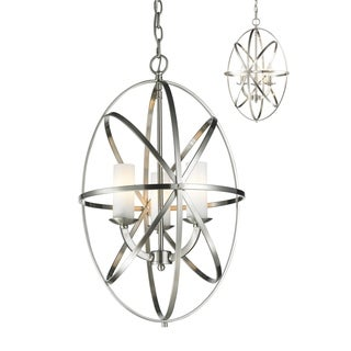 Z-Lite Aranya Brushed Nickel 3-light Oval Chandelier