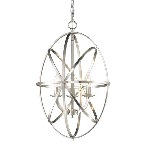 3 Light Chandelier Brushed Nickel