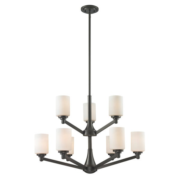 Avery Home Lighting Montego Oil Rubbed Bronze 9-light Chandelier - Silver