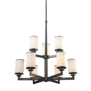 Z-Lite Savannah Oil Rubbed Bronze 9-light Chandelier