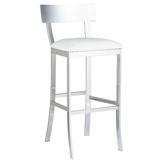 Sunpan 'Ikon' Maiden White Faux Leather Bar Stool