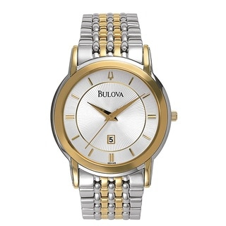 Bulova Men's Two-tone Stainless Steel Japanese Quartz Watch