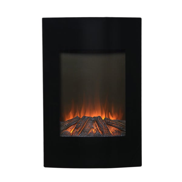 Black Metal 35 Inch Tall Wall Mount Electric Firebox Free Shipping Today