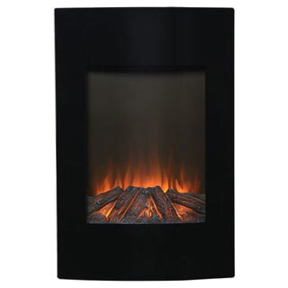 Black Metal 35-inch Tall Wall Mount Electric Firebox