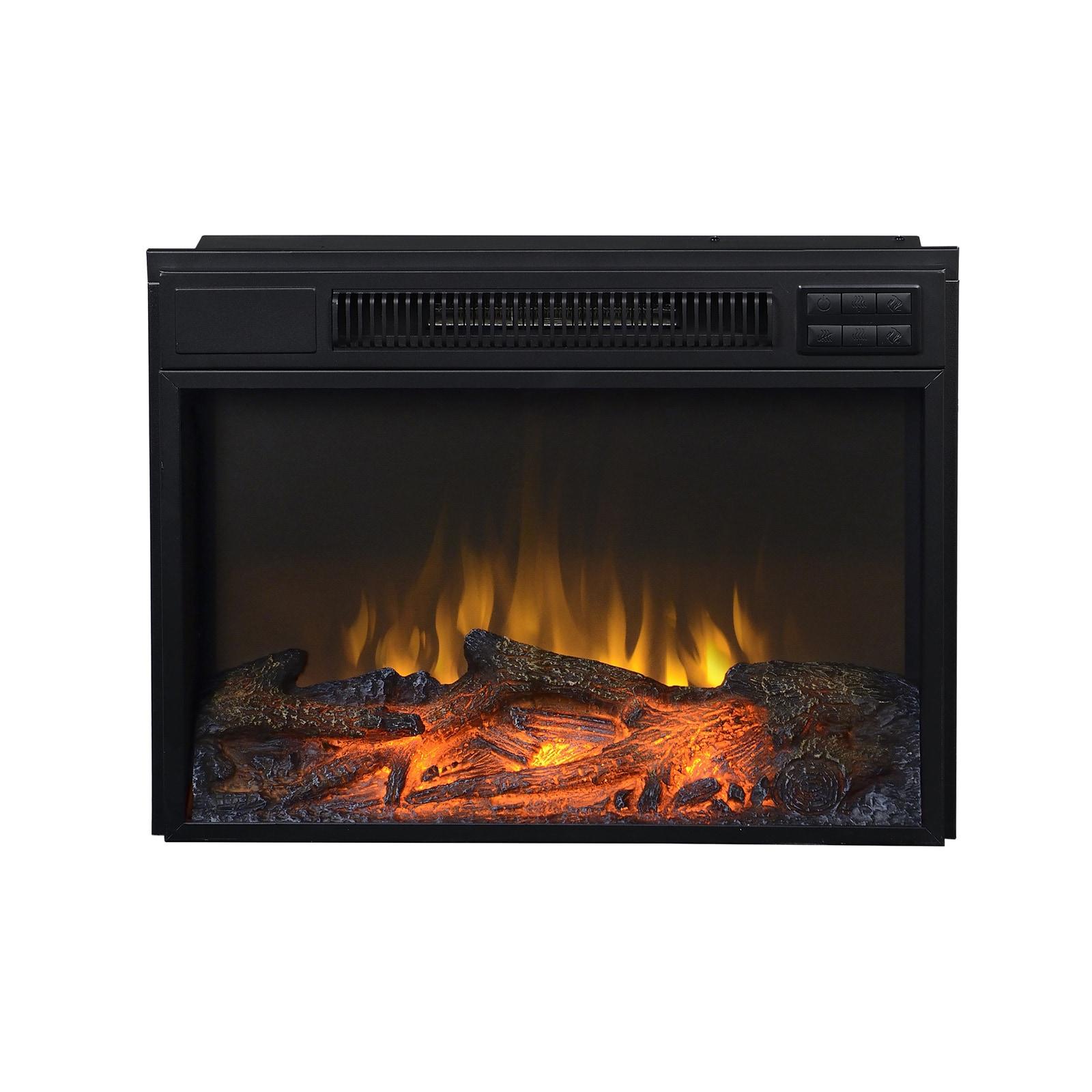 Shop Black Metal 24 Inch Electric Firebox Insert Overstock 9242916