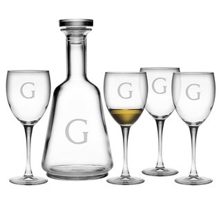 Luigi Bormioli Personalized Decanter and Wine Stem 5-piece Set (More options available)