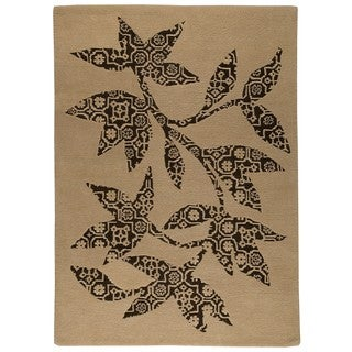 M.A.Trading Hand-tufted Wool Samarkand Beige Transitional Floral Rug (6'6 x 9'9)