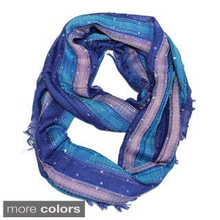Handmade Saachi Women's Sequin Infinity Loop Scarf (India)