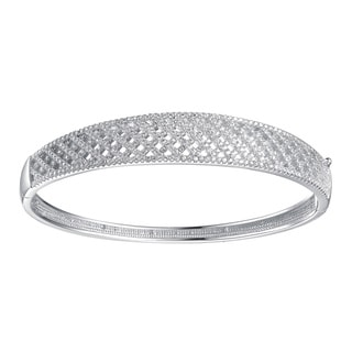Collette Z Sterling Silver Cubic Zirconia Fine and Classic Bangle