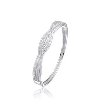 Collette Z Sterling Silver Cubic Zirconia Elegant Bangle