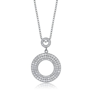 Collette Z Sterling Silver Cubic Zirconia Circle Necklace