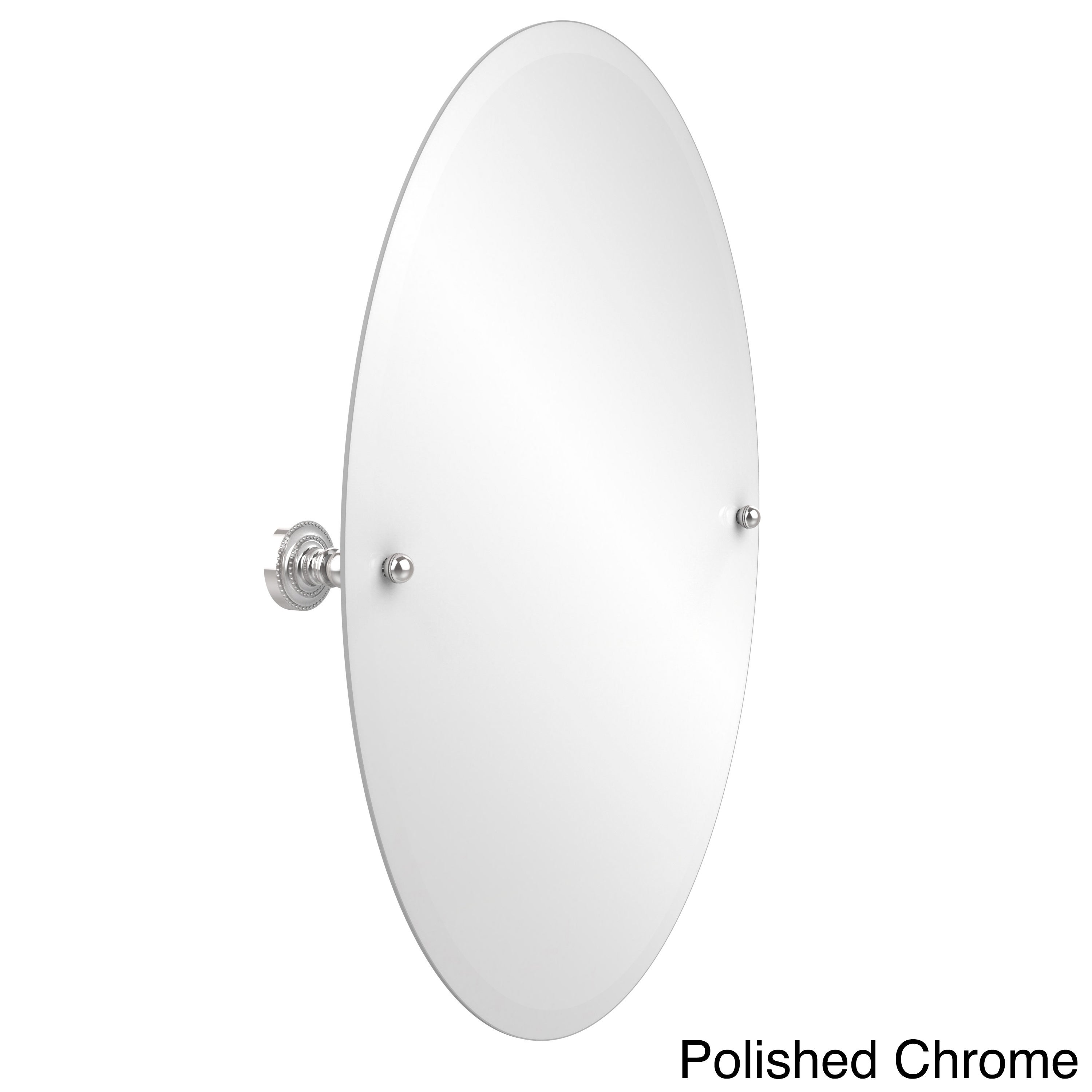 Gatco 4689 Channel Oval Beveled Tilting Wall Mirror Chrome