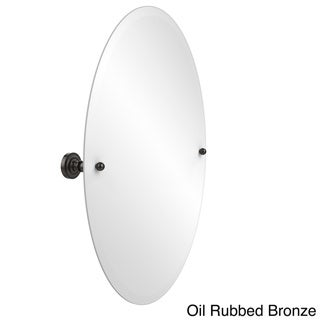 Allied Brass Dottingham Collection Unframed Oval Bathroom Tilt Wall Mirror