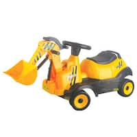 Merske Battery Operated 6V Ride-on 4-Wheel Bulldozer