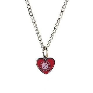 NCAA Alabama Crimson Tide Heart Shaped Pendant Necklace