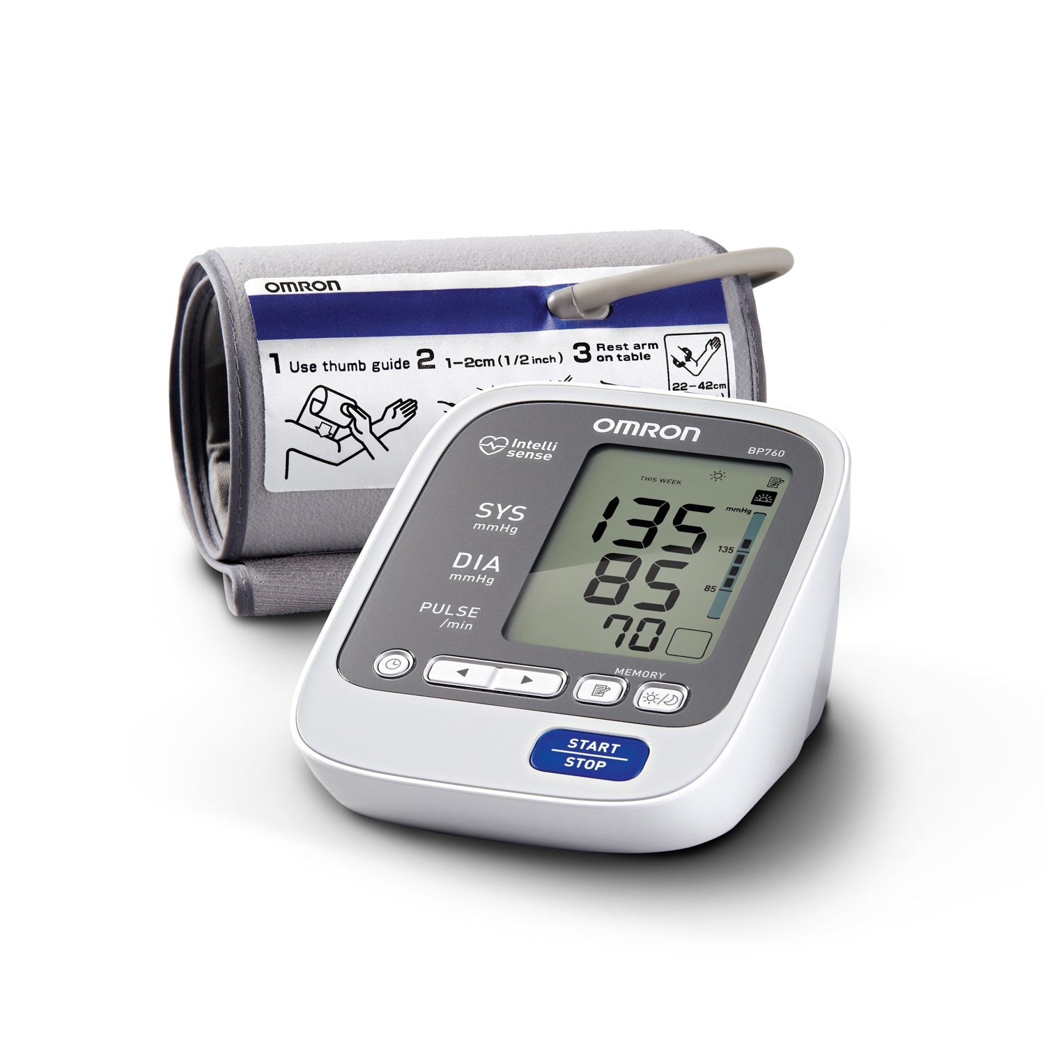 OMRON 7-Series Upper Arm Blood Pressure Monitor with Cuff...