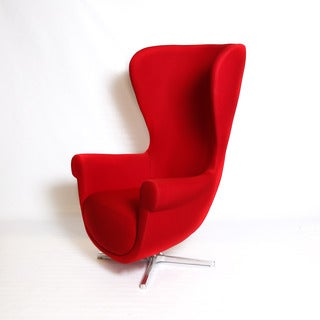 Martin Red Fabric Arm Chair