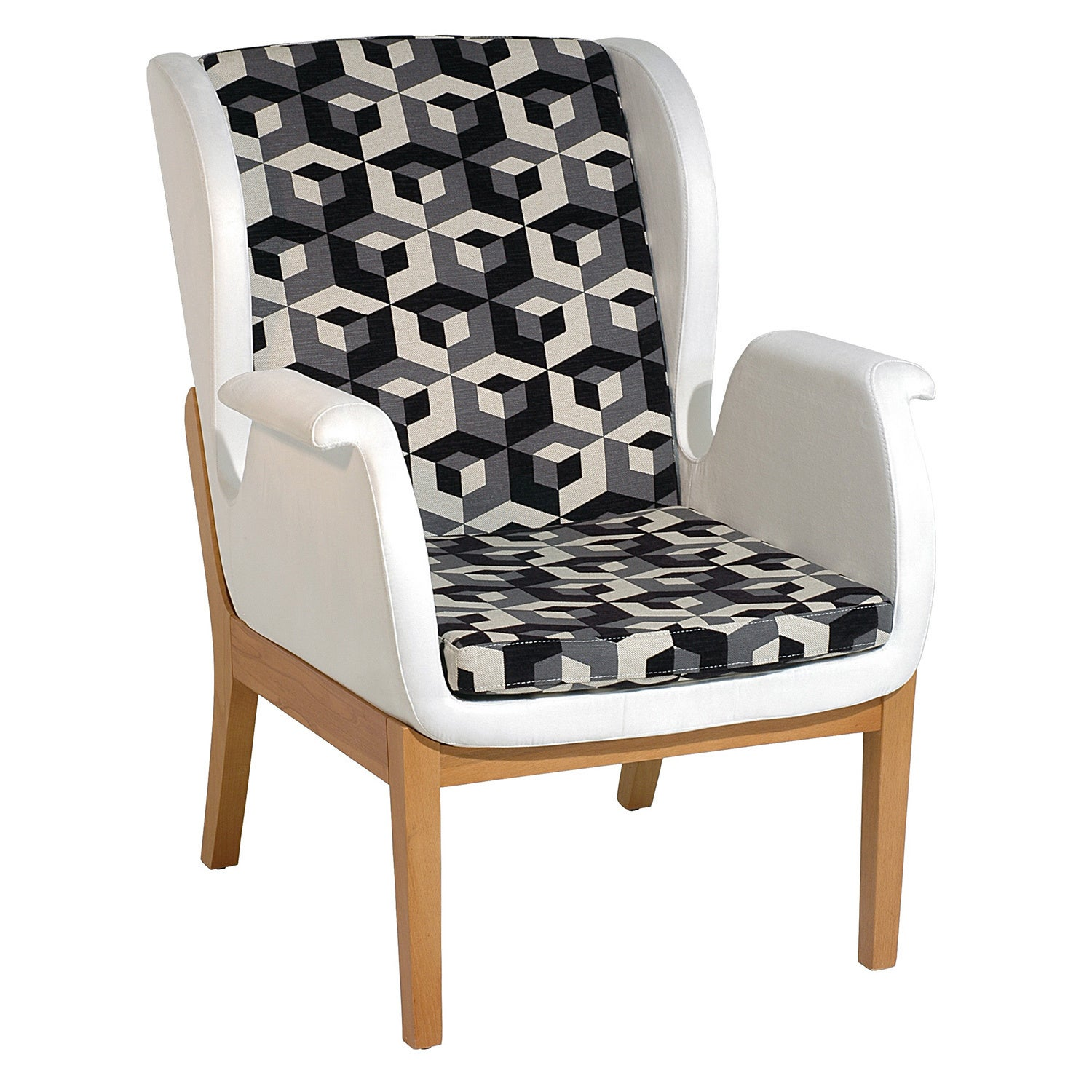 Relax Arm Chair, Beige (Fabric)