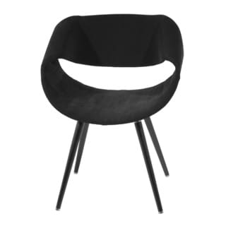 Black Fabric Modern Arm Chair