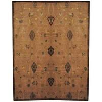 Herat Oriental Indo Hand-knotted Tibetan Wool and Silk Rug (8'10 x 11'8) - 8'10 x 11'8