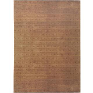 Herat Oriental Indo Hand-knotted Tibetan Gold/ Tan Wool Rug (8'2 x 11'7)