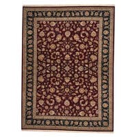 Handmade Herat Oriental Indo Tabriz Wool and Silk Rug (India) - 8'10 x 12'