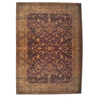 Herat Oriental Indo Hand-knotted Mahal Wool Rug (9'3 x 11'7)