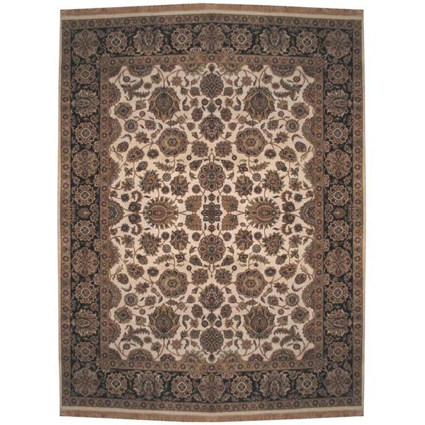Herat Oriental Indo Hand-knotted Mahal Wool Rug (9' x 11'7)