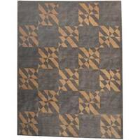 Herat Oriental Indo Hand-knotted Tibetan Wool Rug (8'10 x 11'4) - 8'10 x 11'4