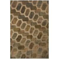 Herat Oriental Indo Hand-knotted Tibetan Wool Rug (8'9 x 11'8) - 8'9 x 11'8