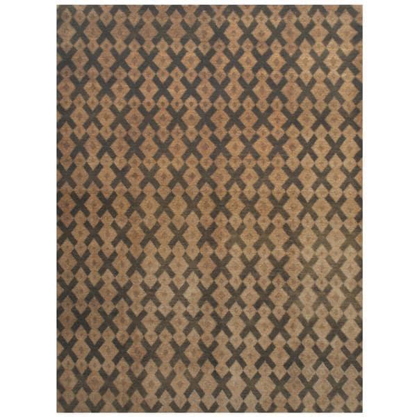 Herat Oriental Indo Hand-knotted Tibetan Wool Rug (8'11 x 12') - 8'11 x 12'