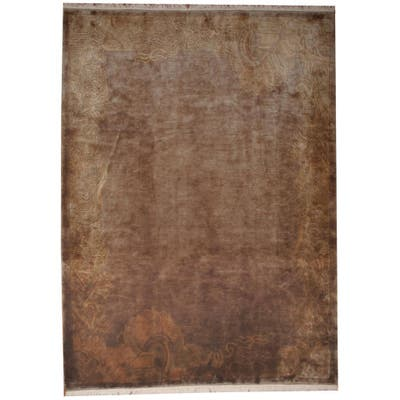 Handmade One-of-a-Kind Tibetan Wool Rug (India) - 8'2 x 11'