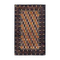 Handmade Herat Oriental Afghan 1960s Semi-antique Tribal Balouchi Wool Rug - 2'7 x 4'2 (Afghanistan)