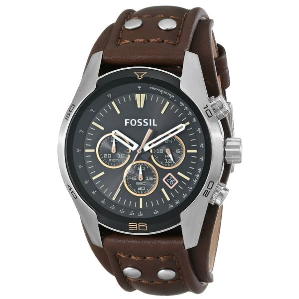 shop fossil men 39 s ch2891 coachman brown leather watch. Black Bedroom Furniture Sets. Home Design Ideas