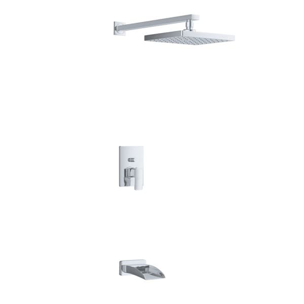 Sumerain Waterfall Tub Spout And Rain Shower Faucet Combo