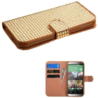 INSTEN Magnetic Flap ID Card Slots Wallet Leather Phone Case Cover for HTC One 2 M8