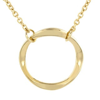 Stainless Steel Twisted Open Circle Pendant Necklace|https://ak1.ostkcdn.com/images/products/9245343/P16411307.jpg?_ostk_perf_=percv&impolicy=medium