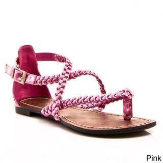 Gomax Women's 'Berdine 53' Braided Gladiator Flat Sandal