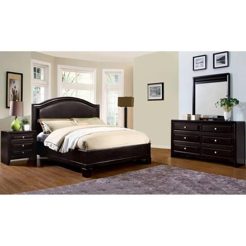Furniture of America Web Transitional Espresso 4-piece Bedroom Set