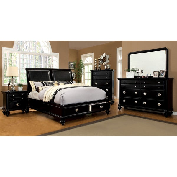 Furniture of America Modern 4-piece Platform Bedroom Set - Free ...