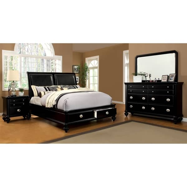 Shop Mariena Modern Black 4-Piece Platform Bedroom Set by ...