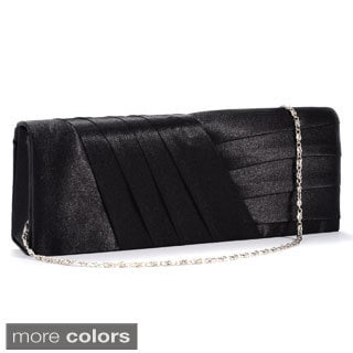 Simple Satin Pleated Evening Party / Bridal Clutch