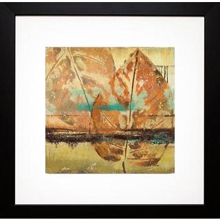 Patricia Pinto 'Rain Leaves II' Framed Art Print